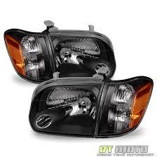2006 toyota accessories blk 2005 2006 toyota tundra 2007 sequoia headlights corner ls
