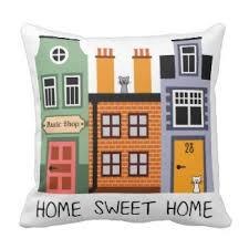 home sweet home pretty throw pillows
