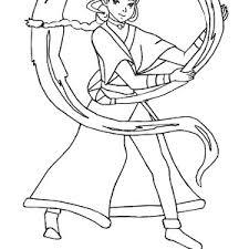 aang fight zuko avatar air bender coloring