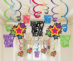 cool new years party decorations with cheerful ornament sets