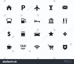 Maps Traffic Vector Navigation Direction Maps Traffic Icons Stock Vector