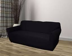 black jersey sofa stretch slipcover couch cover chair loveseat
