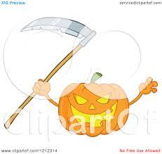 scary halloween cartoons cartoon of a scary halloween pumpkin with a scythe royalty free