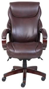 La Z Boy Executive Office Chair La Z Boy Air Bonded Leather Executive Chair Brown 45779 Best Buy
