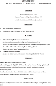 Sample Legal Resumes by Sample Resume Patent Attorney
