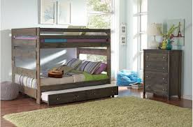 Grayson Solid Wood Full Size Bunk Bed In Gun Smoke - Solid wood bunk bed