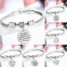 heart bracelet charms images Family love crystal heart bracelets mother daughter be my dad my jpg