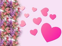 free valentine hearts and pink roses backgrounds for powerpoint