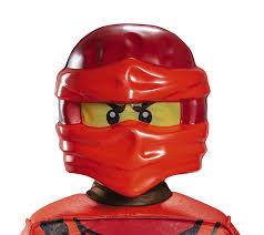 lego ninjago halloween costume lego mask kids kai ninjago costume accessory amazon co uk toys