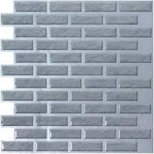 Brick Vinyl Wall Tiles XIn Peelnstick Backsplash  Sqft - Peel and stick kitchen backsplash