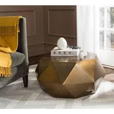 safavieh astrid copper coffee table fox3223a the home depot