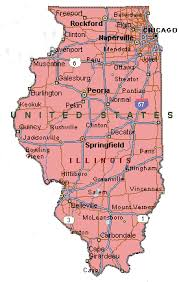 of illinois map illinois county maps cities towns color
