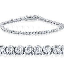 tennis bracelet white images 3 ct diamond 18k white gold round cut tennis bracelet 7 quot jpg