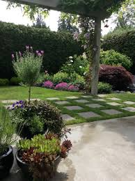small garden with cement pavers country garden pinterest