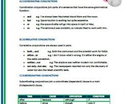 correlative and subordinating conjunctions worksheet