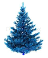 4 foot white christmas tree with colored lights abstract 3d illustration of blue christmas tree isolated over white