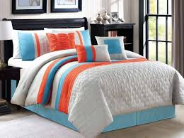 Orange And White Comforter Gray King Comforter Set U2013 Rentacarin Us