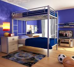 Decorate Small Bedroom Bunk Beds Bedroom Colorfull Fabric Area Rug Grey Modern Wooden Bunk Bed