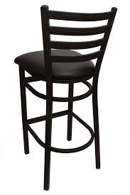 Black Bar Stools With Back Gladiator Ladder Back Metal Bar Stool With Black Vinyl Seat And