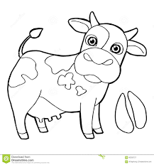 cattle with paw print coloring pages vector stock vector image