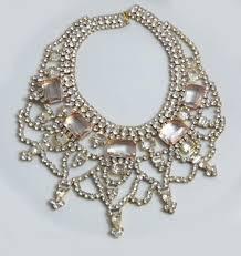 rhinestone statement necklace images Husar d czech glass peach clear rhinestone statement necklace jpg