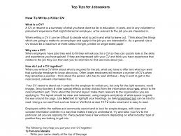 How Do You Make A Resume For A Job by How To Write A Cv For Your First Job