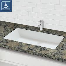 surface rectangular undermount bathroom sink