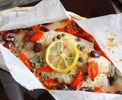 Mediterranean Style Food - mediterranean fish en papillote from a chef u0027s kitchen
