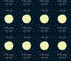you to the moon and back fabric olafdesigns spoonflower