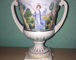 Capodimonte Vases Antique Capodimonte Style Etsy