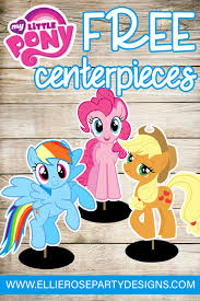 my pony centerpieces my pony centerpieces table decorations free printables