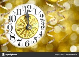 new years streamers new years party clock streamers abstract light background