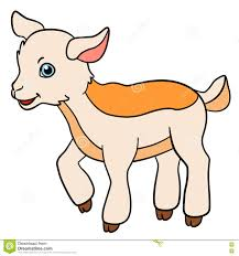 cartoon farm animals for kids little cute baby goat stock vector