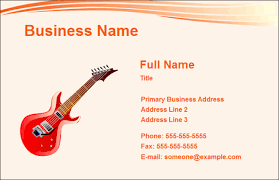 Create Business Card Free Music Business Card Free Music Business Card Templates
