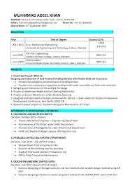 Resume For Mechanical Engineer Resume Mechanical Engineer