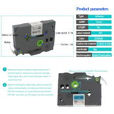 how to install brother p touch tape black on white tape compatible for p touch cassette ribbons