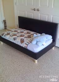 Simple Diy Bed Frame Attempting Aloha Diy Upholstered Toddler Bed Couch Plans This