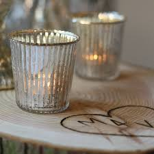 Ribbed Mercury Glass Tea Light Holder By The Wedding Of My Dreams