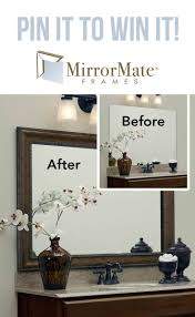 Bathroom Wall Mirror Ideas by Best 25 Framed Bathroom Mirrors Ideas On Pinterest Framing A