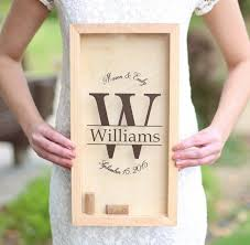 personalized bridal shower gifts personalized wine cork keeper custom wedding gift rustic barn