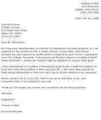 education cover letters teacher cover letter examples education
