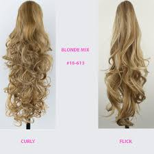 Uzbekistan Hair Extensions by Ponytail Clip In On Hair Extensions Reversible All Colours Size
