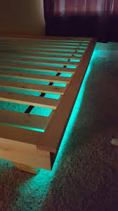 platform bed with led lights low profile bed with built in