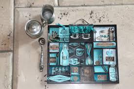 black background halloween toll tray turquoise tea u0026 coffee letterblock tray the creative studio