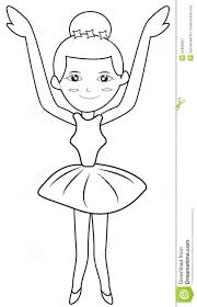 ballerina coloring page stock illustration image 51868647