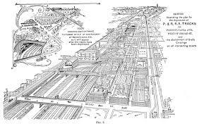 sketch of the p tracks pennsylvania reading railroad