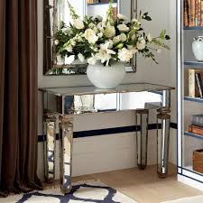 wood and mirrored console table small mirrored console table console table best style mirrored