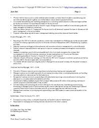Sample Project List For Resume by Sample Resume Example 4 Sales And Marketing Resume