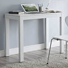 blue writing desk furniture rectangle white wooden writing desk with single drawer