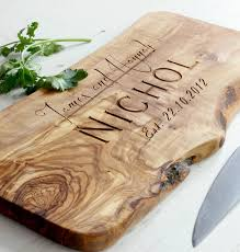 personalized wedding cutting board sokind registry graham and s wedding